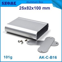 small aluminium enclosures 4 pcs/lot smooth surface IP 54 aluminum box which in silver color without powder coating with scratch(China)