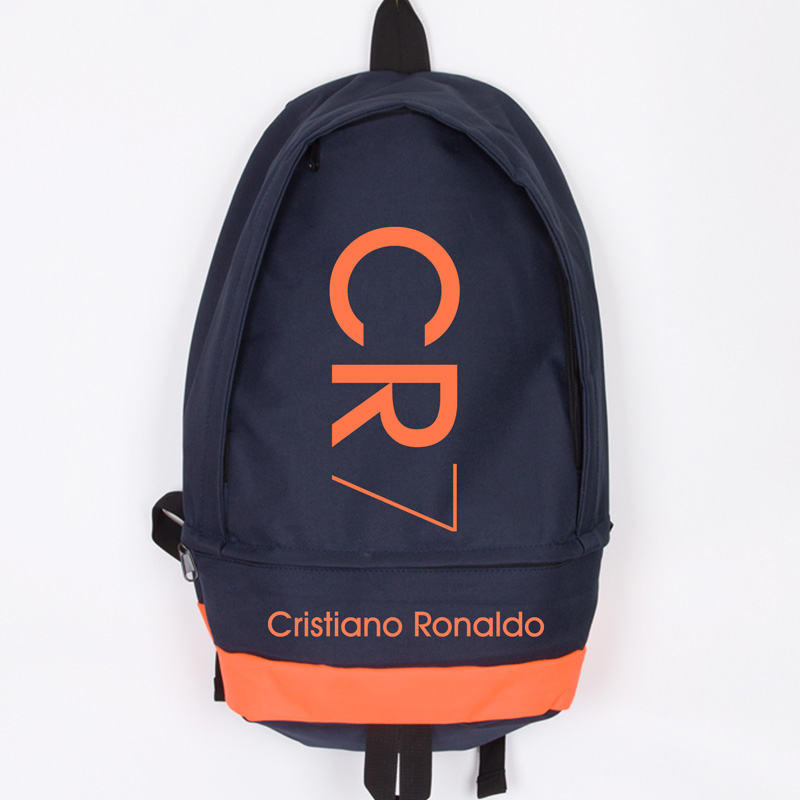 New Fashion Cristiano Ronaldo Canvas Backpack Men Women Large Capacity Computer Backpack CR7 Travel Backpack Boy Girl School Bag<br>