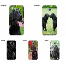 For Galaxy Alpha Core Prime Note 2 3 4 5 S3 S4 S5 S6 S7 S8 mini edge Plus Soft TPU Art Print Black Labrador Retriever Dog Art(China)