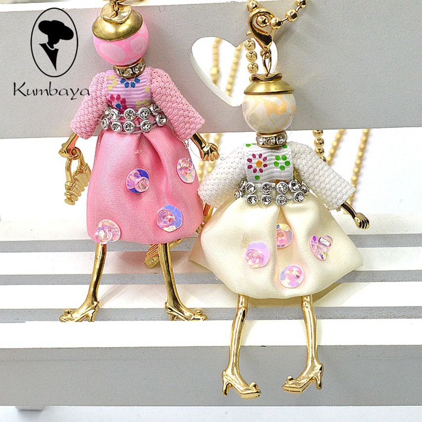 Fashion necklace women Cute Korean Dress Doll Necklace Women Jewelry Female Gifts Free Shipping Wholesaler Accessory NS289(China (Mainland))