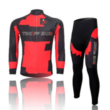 New Cycling Jersey Long Sleeve Racing Bike cube Cycling sets Clothing MTB Cycle Clothes Wear Ropa Ciclismo Sportswear Red/Black