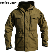 M65 UK US Army Clothes Casual Tactical Windbreaker Men Winter Autumn Waterproof Flight Pilot Coat Hoodie Military Field Jacket(China)