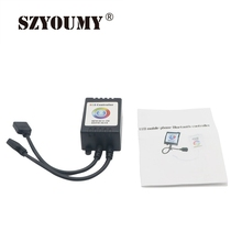 Szyoumy Bluetooth LED RGB Controller DC12V - 24V Music / Sound APP Control LED Strip Light Compatible With IOS 6.0 & Android 4.0(China)