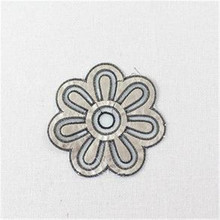 Clothes pu patch Sewing & Fabric deal with it 165mm flower logo Fashion patches for clothing home stickers DIY free shipping(China)