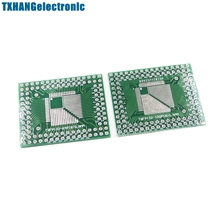 5Pcs QFP/TQFP/FQFP/LQFP 32/44/64/80/100 To DIP Adapter PCB Board Converter(China)