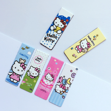 6pcs/pack Cute Kawaii Hello Kitty Magnetic Bookmarks Books Marker of Page Student Stationery School Office Supply Kids Gift(China)