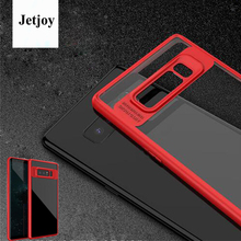 JETJOY For Samsung Galaxy Note 8 Cases Luxury Hybrid Soft Rubber Flexible Plastic Cover Transparent Thinnest Cellphone Fundas(China)