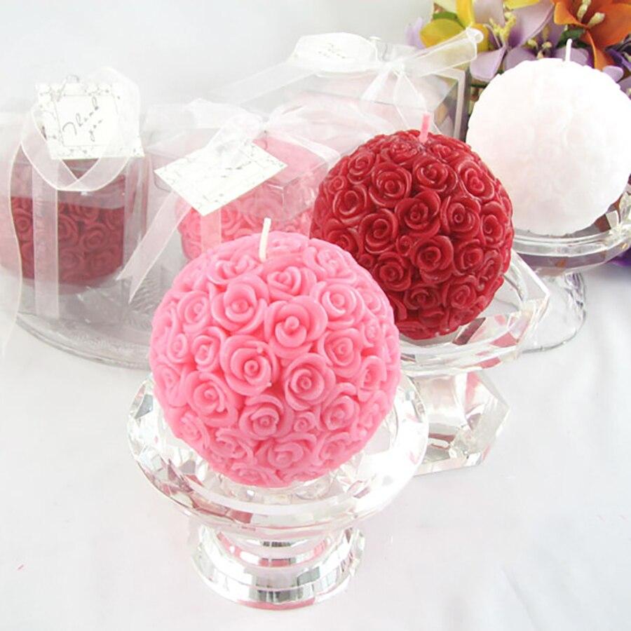 Creative Flower Candles Wedding Decoration Bougies Et Chandelles ...