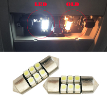"2X Festoon 27mm 28mm 1.10"" 5050 6SMD DE3021 DE3022 3528 LED Xenon White Interior Lights Bulbs 12VDC Dome roof Door step light"