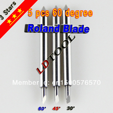 FREE SHIPPING 5PCS 60 Degree Roland Knife for Plotter Vinyl Cutter For Cutting Thick Reflective Film & Flock