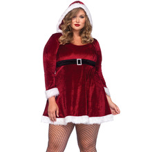 FGirl Christmas Costumes Sexy New Year Adult Halloween Costume Plus Size Sexy Santa Costume FG10855(China)