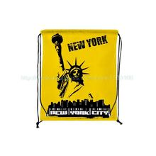 4Pcs New York Signature Print Custom Outdoor Beach Gym Swimming Clothing Shoes Towel Storage Bag Drawstring Backpack