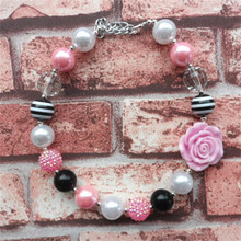 Hotter design girl party favors chunky jewelry child beads necklace 2pcs/lot kids chunky bubble gum necklace wholesale