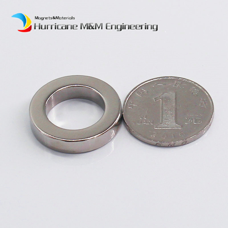 1 Pack NdFeB Magnet Ring OD 25x16x5 (+/-0.1)mm Diameter 0.98Round Strong Magnets Axially Magnetized Rare Earth Magnet<br>