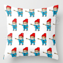 New Hot Wes Anderson Pillow Case Steve Zissou Decorative Cushion Cover The Life Aquatic Geeky Quirky Gift Print Home Decor 18""