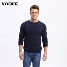 Vomint Men Solid Sweater Regular O-neck Casual Long Sleeve Knitted Male Autumn New Class Design F6PI6637(China)