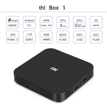 THL Smart Android TV Box 1 Android 7.1 Amlogic S905X Quad-core CPU Penta Core GPU up to 1.5GHz 1GB+8GB 2GB+16GB 4K WIFI With LED(China)