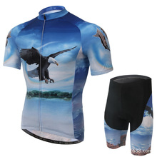 Short-sleeved Cycling Suit Bike Eagle Bicycle Jersey Features Moisture Wicking Underwear Bike Jersey Clothes Suit