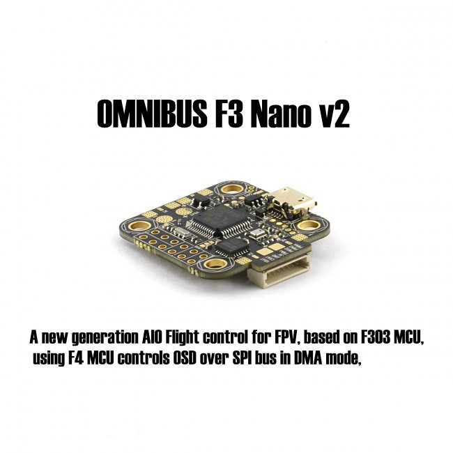 OMNIBUS F3 Nano v2 Flight control board Supports SD Card and LIPO direct input (2-4S) For FPV racing quadcopter drone<br>