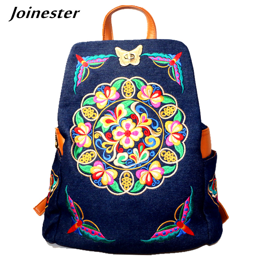 Women Retro Canvas Casual Backpack Fashion Denim Daypack Light Weight Jeans Travel Tote Bag Girls Schoolbag Shoulder Bookbags<br>