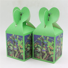 event party supplies teenage mutant ninja turtles printed candy box gift box birthday souvenir for boys set of 6pcs