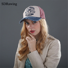 SDRawing brand cap baseball cap fitted hat Casual cap gorras 4 panel hip hop snapback hats wash cap for men women unisex(China)