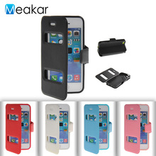 Double Window Pu Leather 4.0For iPhone 5C Case For Apple iPhone 5C iPhone 5C Cell Phone Back Cover Case(China)