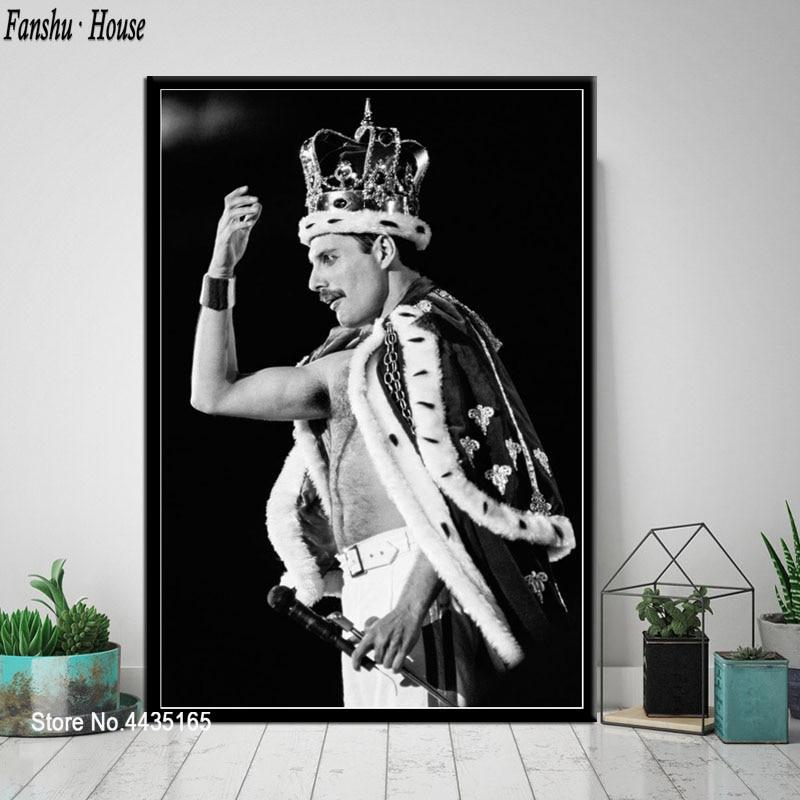 New Freddie Mercury Queen Legendary Singer Rock Star Fabric Poster X-82-24x36