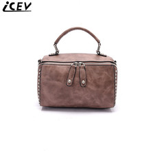 ICEV handbag 2017designer shoulder bag small leather clutch boston hand bag ladies pillow bags handbags women famous brands sac
