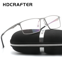 HDCRAFTER Men Women Optical Frames Eyeglasses Frames Commercial Glasses Fashion Eyeglasses Prescription Aluminum frame(China)