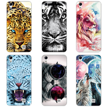 Buy Tiger Lion Cat Animal Patterned Case HomTom HT16 Silicone Soft Shell HomTom HT16 Pro Case HT 16 Phone Back Cover for $1.38 in AliExpress store