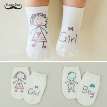 Cute Spring Autumn Baby Socks Newborn Cotton Baby Boys Girls Cute Toddler Asymmetry Anti-slip Socks for babies