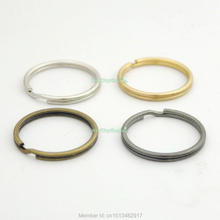 50 PCS 1'' 25mm keyring Keychain split ring for Snap Hook buckle key Nickle Bronze Black Gold