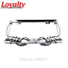 Loyalty Car Stying 2pcs JDM Front Rear Scorpion Look USA/Canada License Plate Frame Tag Cover Holder for Auto Truck Vehicle