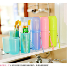 4 Colors Portable Utility Toothbrush Holder Tooth Mug Toothpaste Cup Bath Travel Accessories Set