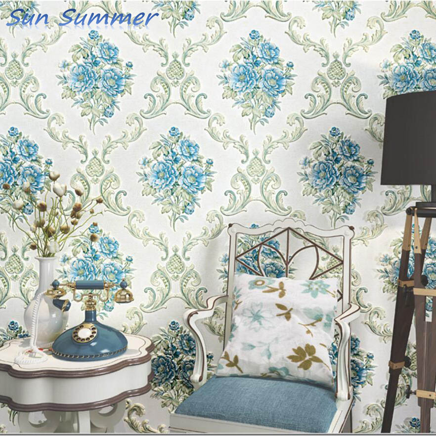 Luxury big flower 3d embossed textured wallpapers living room wallpaper 3d wall <br>