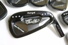 TourOK  Golf Clubs Dance With Dragon Forged Iron Set black Golf Forged Irons 3-9Pw Golf Head No Shaft