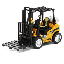 Forklift Crane Simulation Mini Metal Toy Model 1:24 Scale Pull Back Alloy Car With Sound And Light Kit Speelgoed Boy Oyuncak(China)