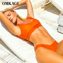 Buy OMKAGI Brand Brazilian Bikini 2018 Swimsuit Swimwear Women Sexy Push Swimming Bathing Suit Beachwear Sport Bikinis Set Summer
