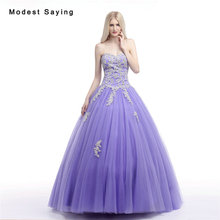 Sexy Lavender Ball Gown Sweetheart Beaded Lace Evening Dresses 2017 Formal Women Party Prom Gowns vestidos madrinha de casamento