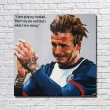 Wall Art Home Decoration Home Decor Decorative Fine Art Not Print Pictures Hand Painted Football Star Pop Art RW390(China)