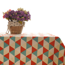 2015 Hot Japan Style Table Cloth 100% Woven Home Party Tablecloth Geometric Pattern Printed Tables Cover For Home Decoration