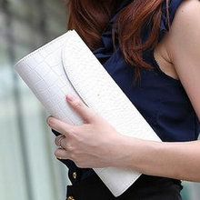 Fashion Designer Crocodile Pattern Ladies' Shoulder Chain Bag Wallet PU Leather Clutch Evening Bag Purse for Women Handbag