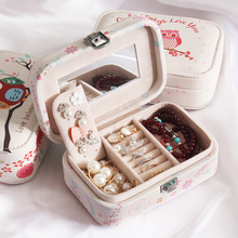 2017 New Mini Portable Jewelry Box Ring Earrings Jewellery Storage Organizer Super Cute Jewelry Case Small Thing Container(China)