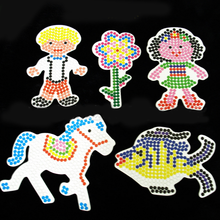 1 Pc 6 Model 5mm EVA Fight Beans Template DIY Toys hama perler beads Children Creative Plastic Puzzle Education Animal Gifts(China)