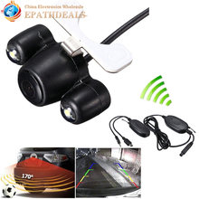 Waterproof Night Vision CMOS Car Rear View Camera Auto Backup Reverse Rearview Camera Parking Assistance + 2G Wireless Receiver