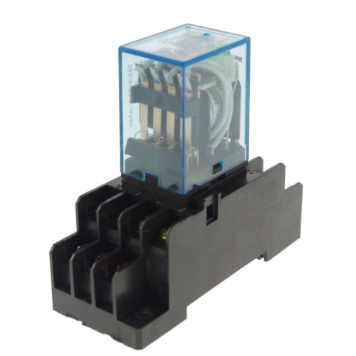 10pcs 12/24VDC 5A Coil Power Relay JQX-13F MY4NJ HH54PL 14Pins 4PDT Socket Base<br>