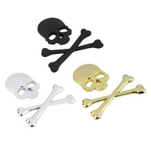 Brand New and High Quality Skull Bone Devil 3D Black Silver Gold Motorcycle Car Emblem Badge Decal Sticker