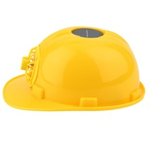 Solar Safety Helmet Outdoor Solar Energy Cooling Cool Fan Safety Helmet Hard Ventilate Hat Cap Yellow Color Bike Accessories(China)