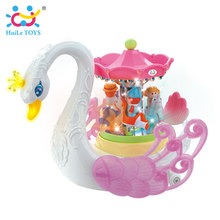 HUILE TOYS 536 Baby Toys Fantastic Swan Musical Toy with Light Electronic Learning Educational Toys for Children Girls Gifts(China)